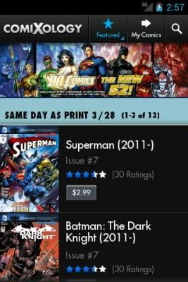 Comixology's Android App
