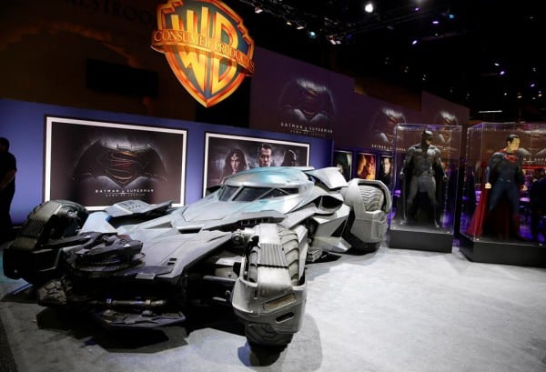 "Batmobile from the upcoming ""Batman v. Superman"" film."
