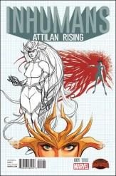 Inhumans Attilan Rising #1 - Dave Johnson 1 in 25 Variant