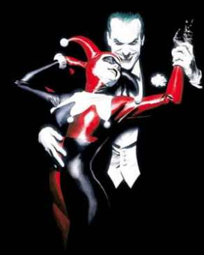 "Cover of Batman: Harley Quinn by Alex Ross entitled, ""Tango With Evil."""