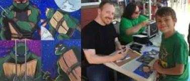 Artist Brian Hess doing a custom sketch