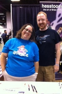 Writer Susan Beneville and illustrator Brian Hess