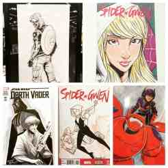 Sketch covers done by Brian Hess