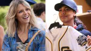 Kaitlin Olson (L.) of The Mick & Kylie Bunbury of Pitch
