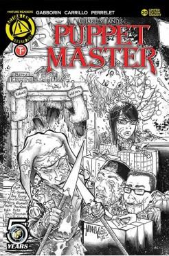 Variant F: Interlocking Kill Cover Sketch (with Kill-A-Fan contest winners!): Andrew Mangum (pencils/inks)