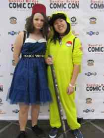 Doctor Who and Pikachu cosplay