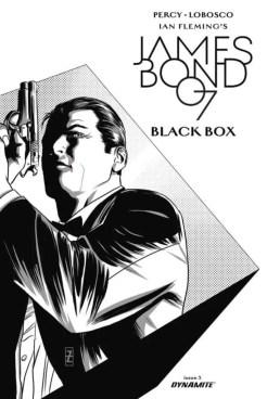 James Bond- Black Box #3 - Cover E b&w variant by Patrick Zircher