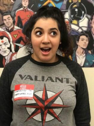 Shanyce Lora, Valiant Digital Media Coordinator Her Power is: SPEAKING TO FRESH-WATER FISH