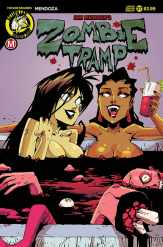 """Zombie Tramp #37 - Cover C – """"blood tub"""" variant (limited to 2000) by Marco Maccagni"""