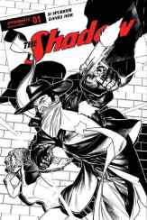 The Shadow #1 - B&W Incentive Cover by Brandon Peterson