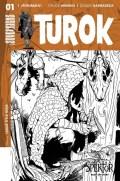 Turok #1 - B&W Incentive Cover by Alvaro Sarraseca