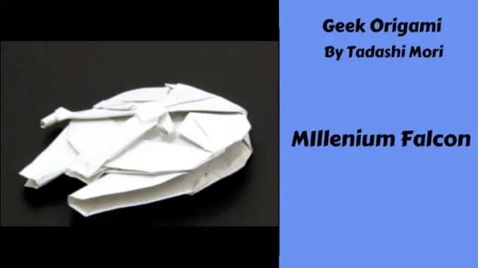 Origami For Geeks Millennium Falcon Popculthq