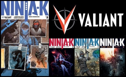 [First Look] Valiant's NINJA-K #2 by Christos Gage & Tomás Giorello - MI-6's Ninja Programme Operatives are Being Eliminated!