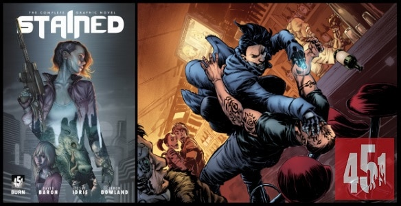 [Preview] 451 Media's 1/17 Release: STAINED TP by David Baron, Yusuf Idris & Simon Bowland