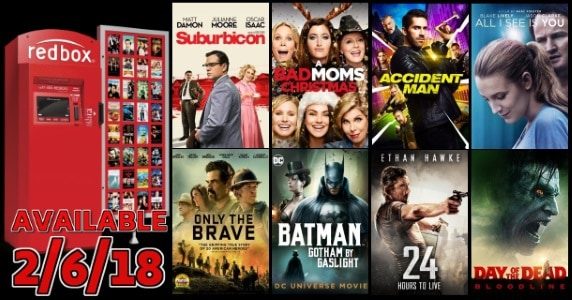 New to Redbox - 2/6/18: Preview & Trailers of This Week's New Releases