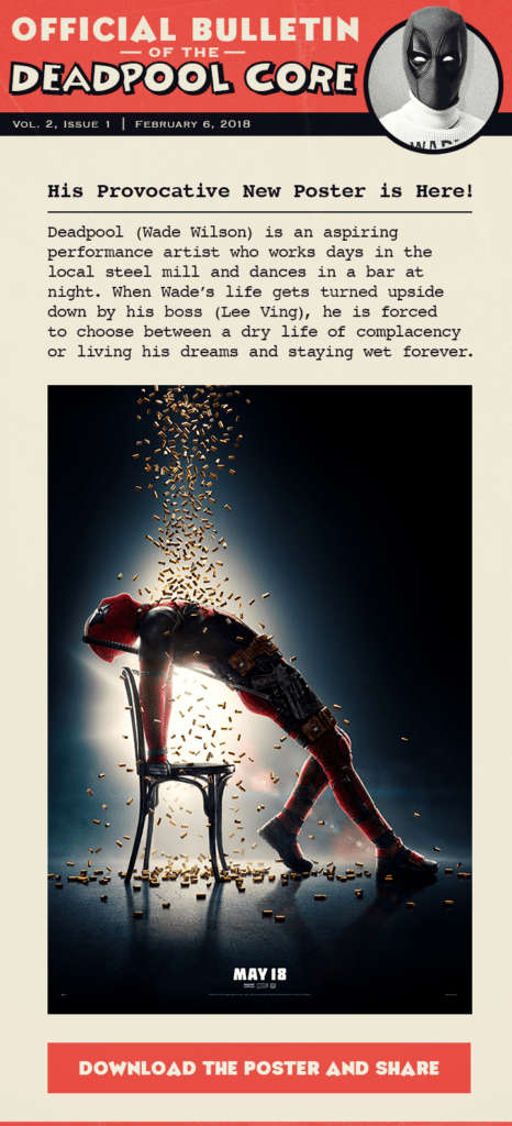 Deadpool Core newsletter