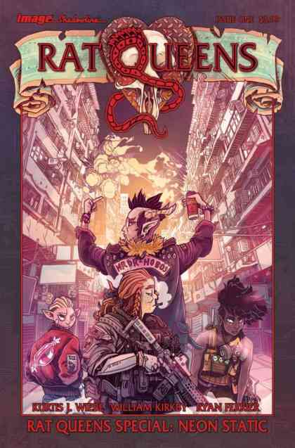 RAT QUEENS SPECIAL: NEON STATIC one-shot cover
