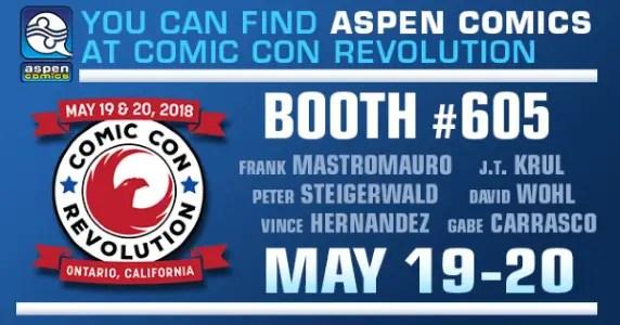 Aspen Comics at Comic Con Revolution Ontario