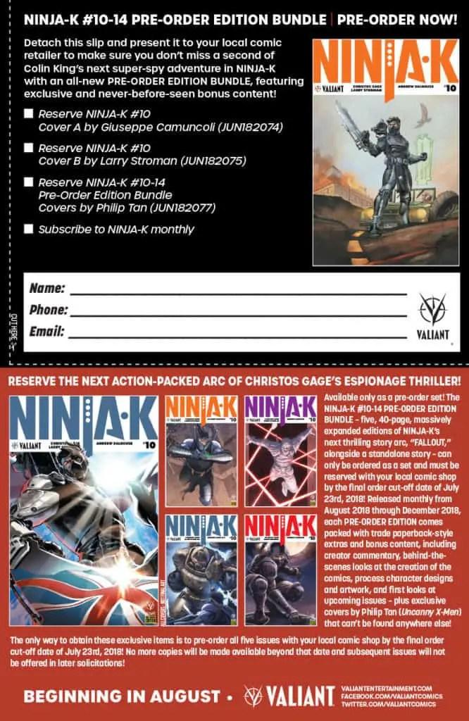 NINJA-K #10-14 PRE-ORDER EDITION BUNDLE Coupon