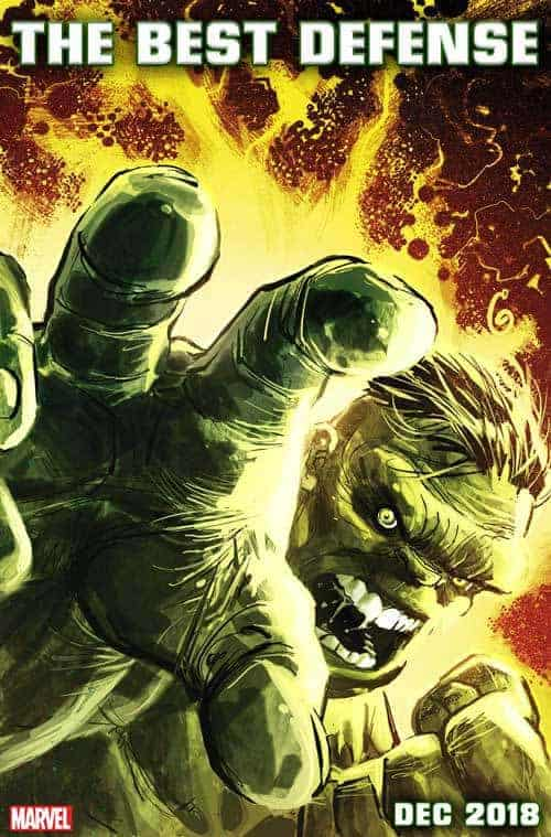 IMMORTAL HULK: THE BEST DEFENSE cover by Ron Garney & Richard Isanove