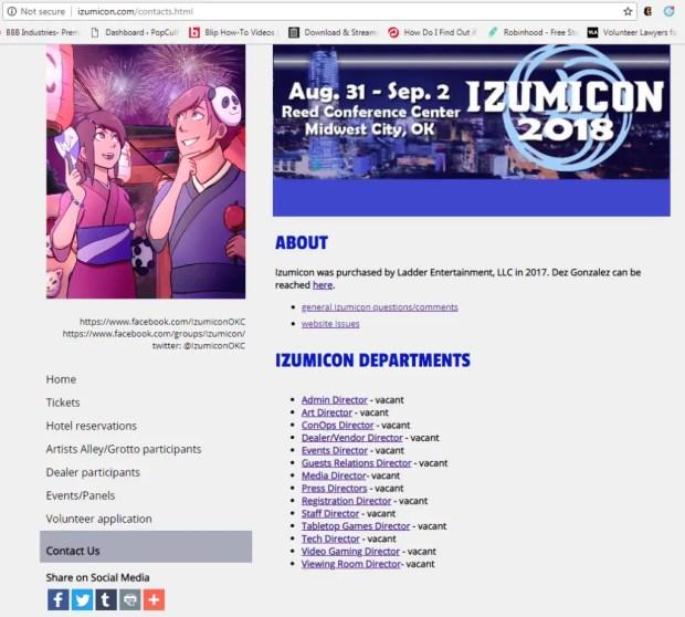 Izumicon contact us