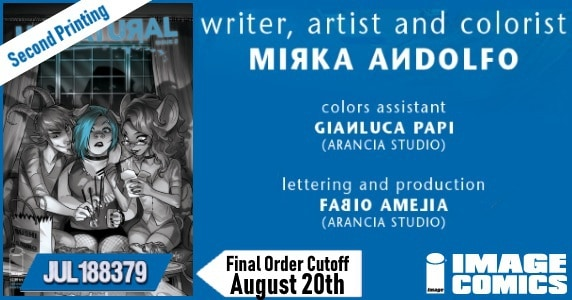 [Second Printing] Image Comics' UNNATURAL by Mirka Andolfo Continues to Fly Off the Racks, New Printing for Issue Two Arrives Sept. 12th