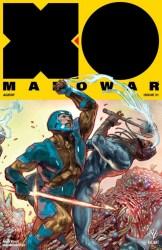 X-O MANOWAR (2017) #21 - Interlocking Variant by Renato Guedes