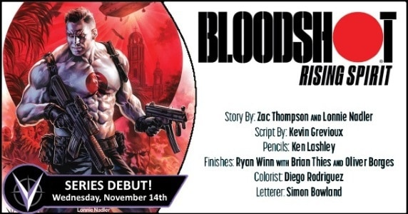 [Preview] Valiant's 11/14 Release: BLOODSHOT RISING SPIRIT #1