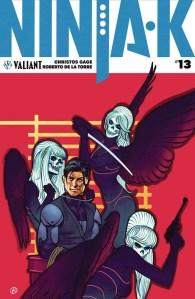 Ninja-K #13 - Cover B by Viktor Kalvachev