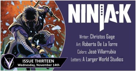 [Preview] Valiant's 11/14 Release: NINJA-K #13