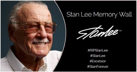 Stan Lee Laid to Rest in Private Funeral, Virtual Memory Wall Erected