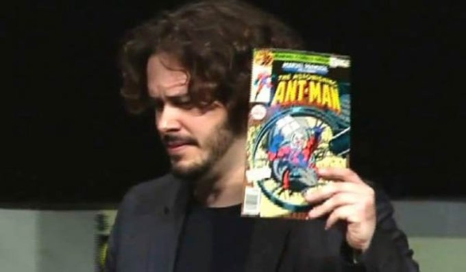 Edgar-Wright-holding-Ant-Man-comics