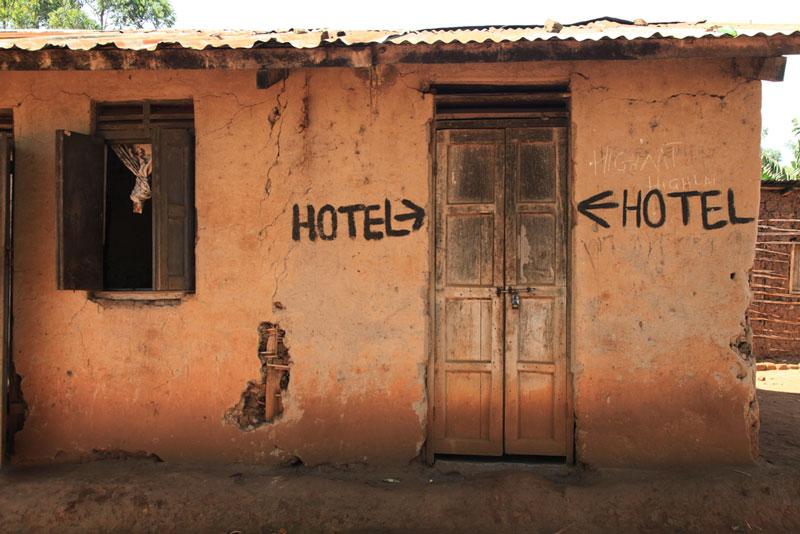 Run-down-hotel