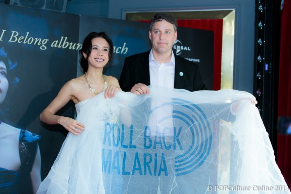 Renowned singer and actress Karen Mok has become the latest to lend her celebrity voice to the global fight against malaria.