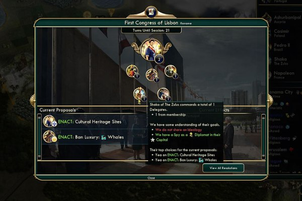 Civ V Brave New World World Congress Screen Shot