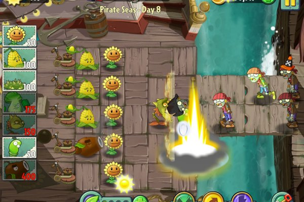 plants versus zombies 2 pirate seas screen shot