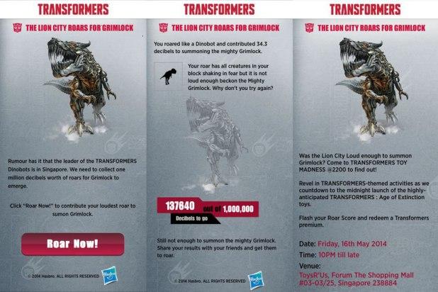 Lion City Roars for Grimlock App