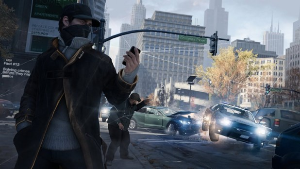 Watch Dogs Review Screen Shot Felony Foot Trafficlight