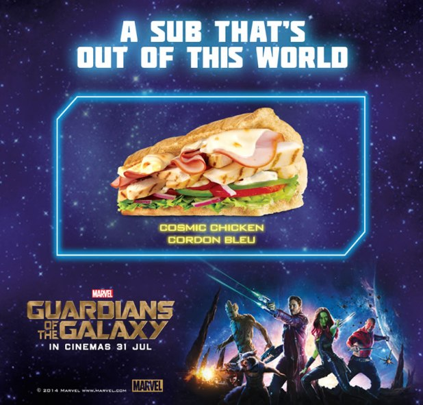 SUBWAY Singapore Marvel Guardians of the Galaxy Cosmic Chicken Cordon Bleu
