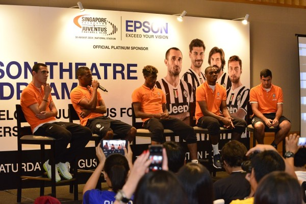 Juventus Football Club players at an exclusive meet-and-greet session