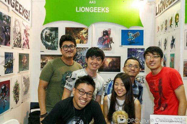 STGCC 2014 Booth Artist Alley LionGeeks
