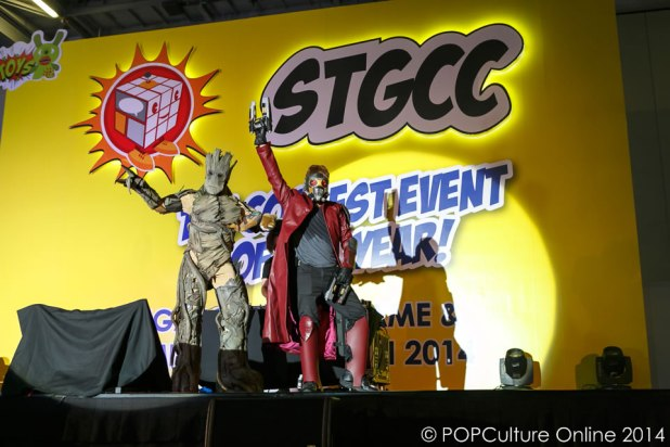 STGCC 2014 Cosplay Marvel Guardians of the Galaxy Star Lord Groot