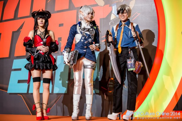 GameStart 2014 Game On Cosplay Competition Judges Yugene Fay, Yasemin Arslan Tessie Tan