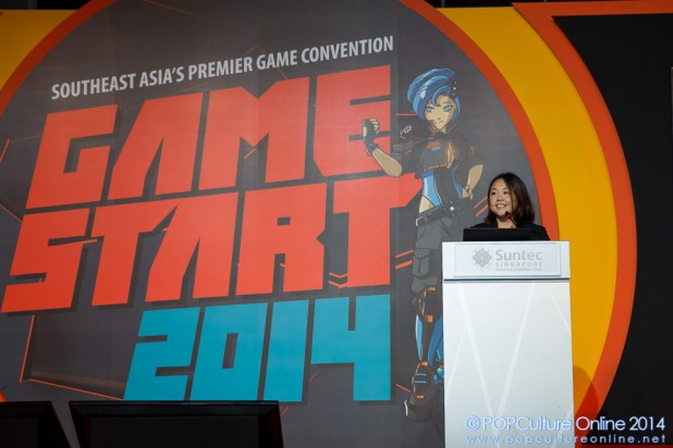 GameStart 2014 Ms Elicia Lee giving the opening address
