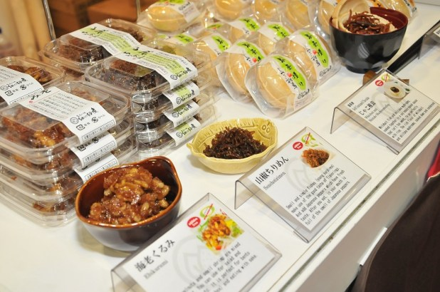 Oishii Japan 2014 - Sanshotirimen from Tsukudani Foods Co Ltd, Ishikawa prefecture, making their debut in Singapore