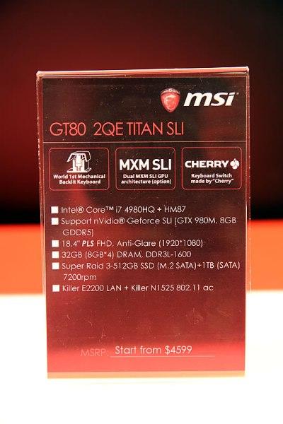 MSI GT80 Titan Singapore Launch 04
