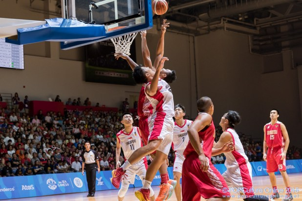SEA Games 2015 Basketball Men Semi Final Singapore vs Indonesia