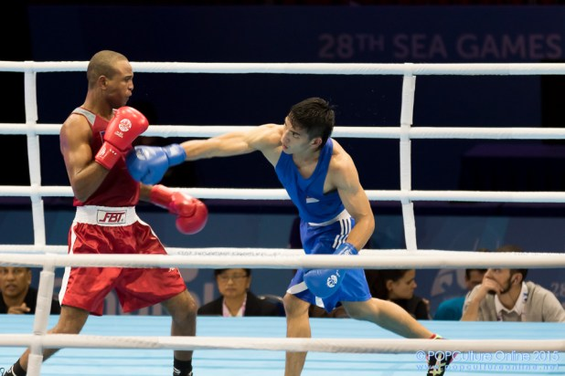 SEA Games 2015 Singapore Expo Boxing Leong Jun Hao Ven Raha (5)