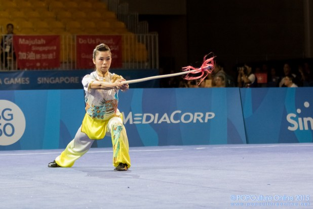 SEA Games 2015 Singapore Expo Wushu Women Optional Spear (7)