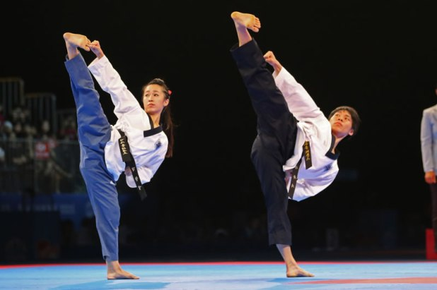 SEA Games 2015 Taekwondo Mixed Pair Poomsae Singapore Chelsea Sim Kang Rui Jie